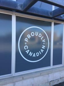 Proudly Canadian Window Vinyl